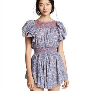 LoveShackFancy Marcela Dress Ruffle Mini